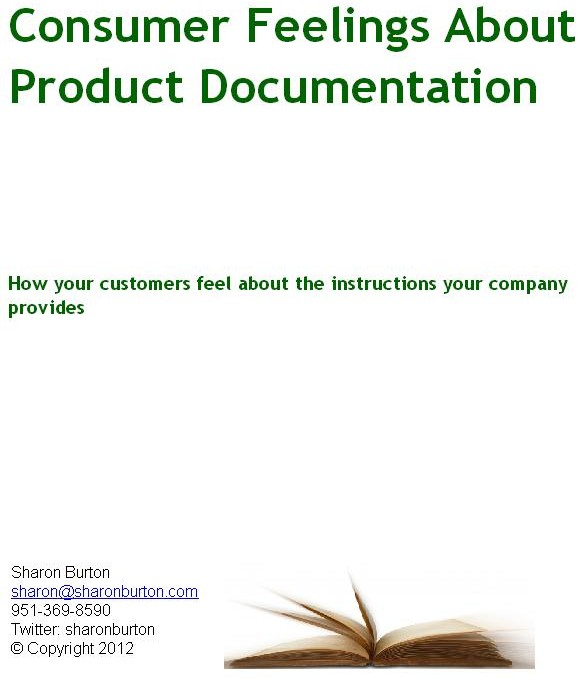 Consumer feelings about product documentation results are in